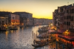 Sunset over the Grand Canal, Venice