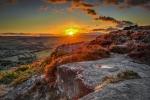 EVENING SUN ON CURBAR EDGE-Phil Lenney