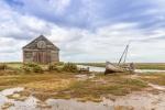 Thornham coal barn and boat - John Harvey
