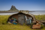 FISHING HUT HOLY ISLAND-Pauline Griggs