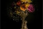 Cherub and Flowers - Sharon Powell