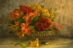 Still life with Alstroemeria flowers - Sharon Powell